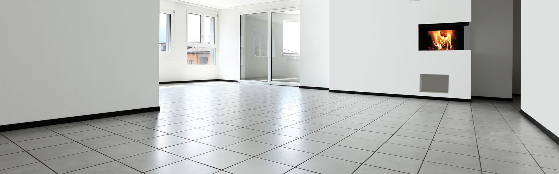 White vinyl floor tile